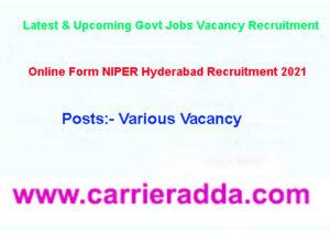 NIPER Hyderabad Recruitment